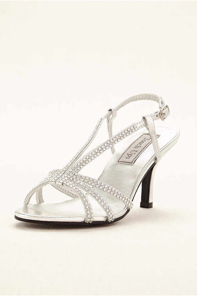 Lyric Sandal by Touch Ups - Elegant and timeless, this rhinestone accented strappy sandal