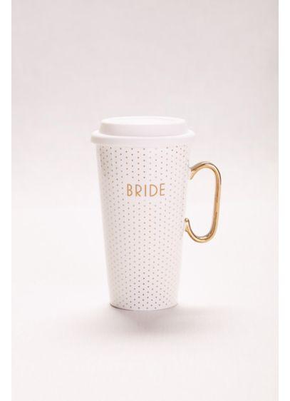 White (Polka Dot Bride Travel Mug)