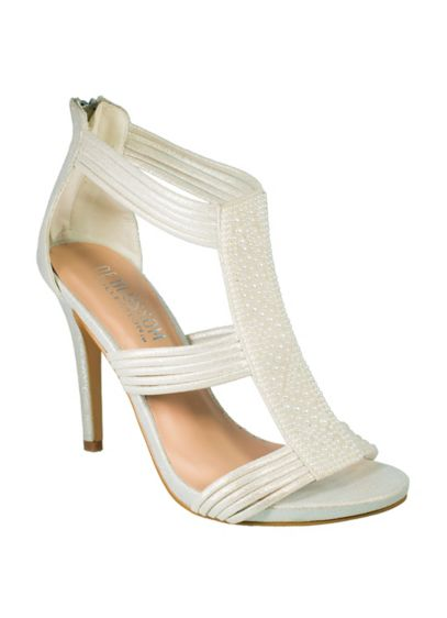 Strappy Heels with Pearl Detail - Wedding Accessories