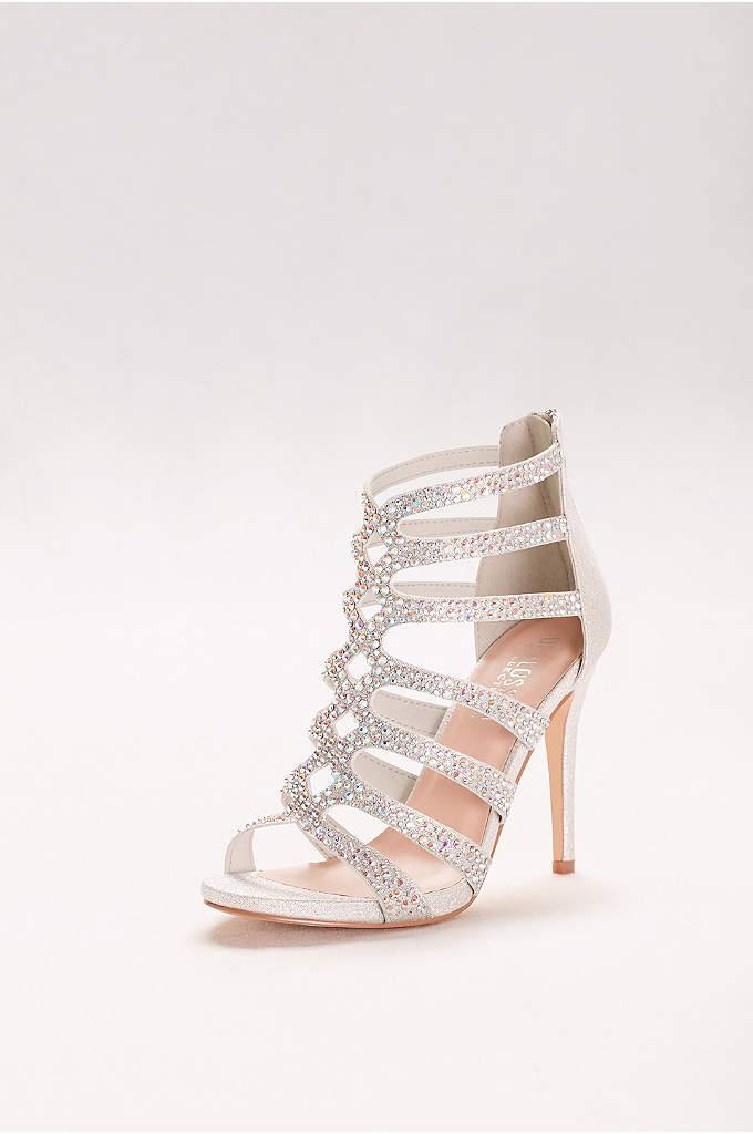 Embellished Strappy Cage Heels - The final finishing touch to a dress with