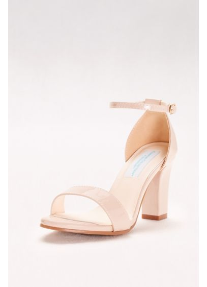Dyeables Beige (Patent Ankle-Strap Block Heel Sandals)