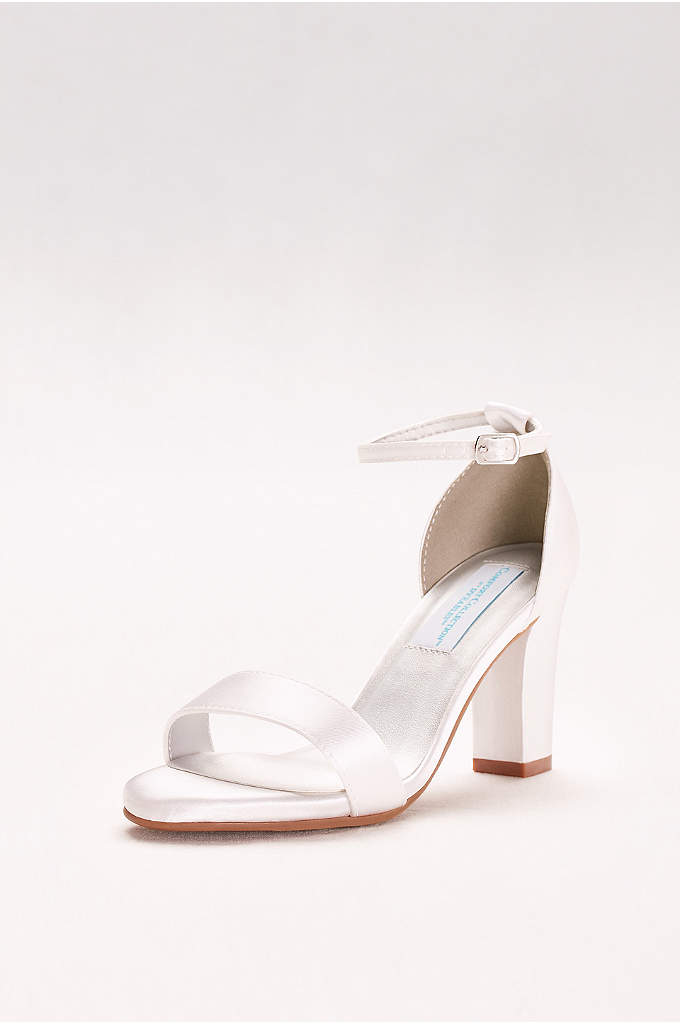 Dyeable Ankle-Strap Block Heel Sandals - Get ready to dance all night: memory foam