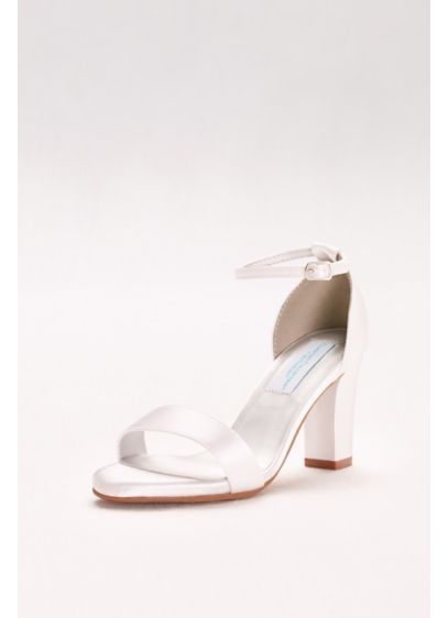 Dyeables White (Dyeable Ankle-Strap Block Heel Sandals)