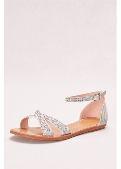 Crisscross Flat Sandal with Crystals MAGGIE2