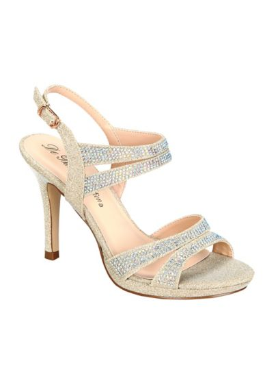 Blossom Beige (High Heel Sandal with Crystals by Blossom)