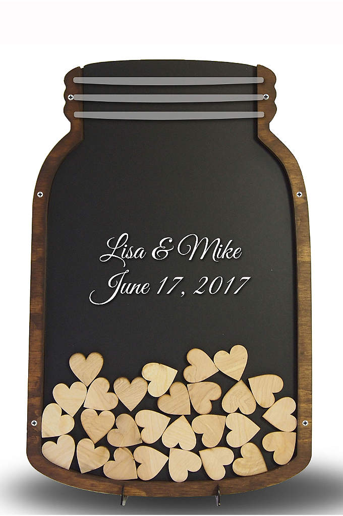 Personalized Mason Jar Drop Heart Guest Book - This Mason Jar Drop Heart Wedding Guest Book