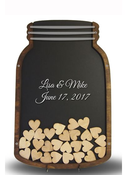 Personalized Mason Jar Drop Heart Guest Book - Wedding Gifts & Decorations