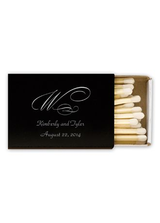 Personalized Match Box with Monogram - Add a personal touch to your wedding reception