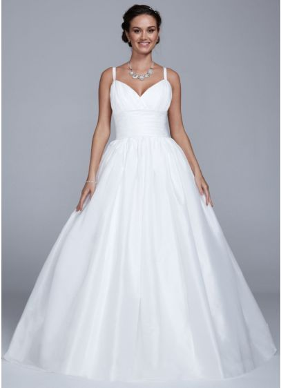 Long Ballgown Simple Wedding Dress - David's Bridal Collection