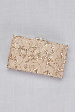Rose gold glitter leaves handbag