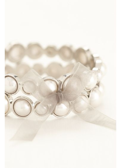 Set of 2 Pearl Bracelets - Wedding Accessories