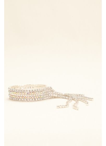 Fringe Crystal and AB Stone Bracelet - Wedding Accessories