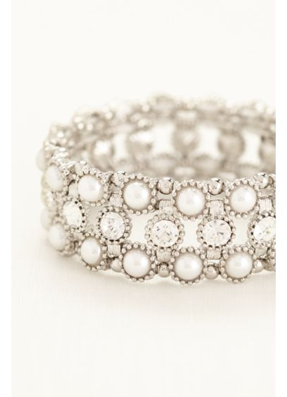 Pearl and Crystal Bracelet - Wedding Accessories