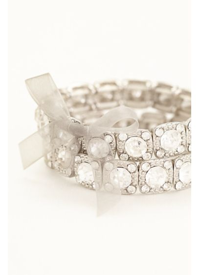 Set of 2 Crystal Bracelets - Wedding Accessories