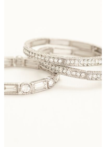 Set of 3 Crystal Stretch Bangles - Wedding Accessories