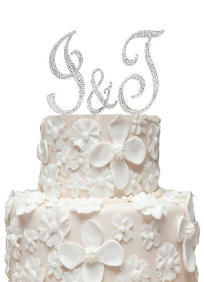 Initial Cake Topper Set with Swarovski Crystals - Wedding Gifts & Decorations