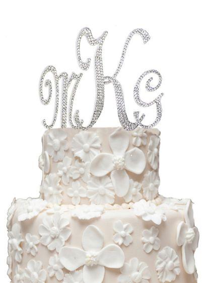 Monogram Cake Topper with Swarovski Crystals - Wedding Gifts & Decorations