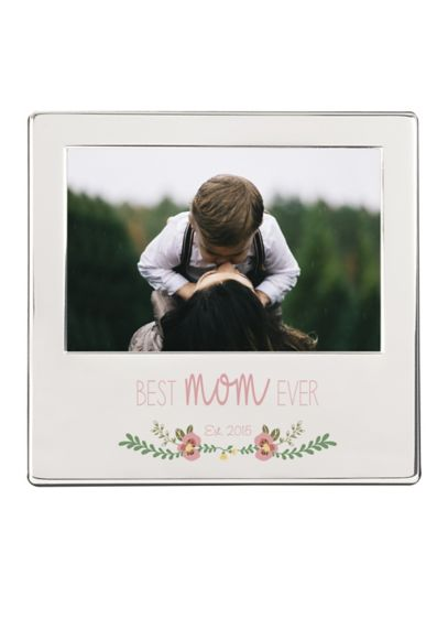 Personalized Best Mom Ever Silver Picture Frame David S