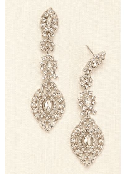 Large Statement Medallion Drop Earrings - Wedding Accessories