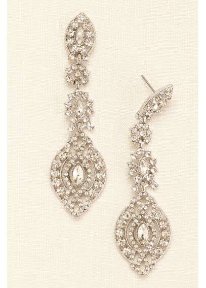 Large Statement Medallion Drop Earrings ME22329