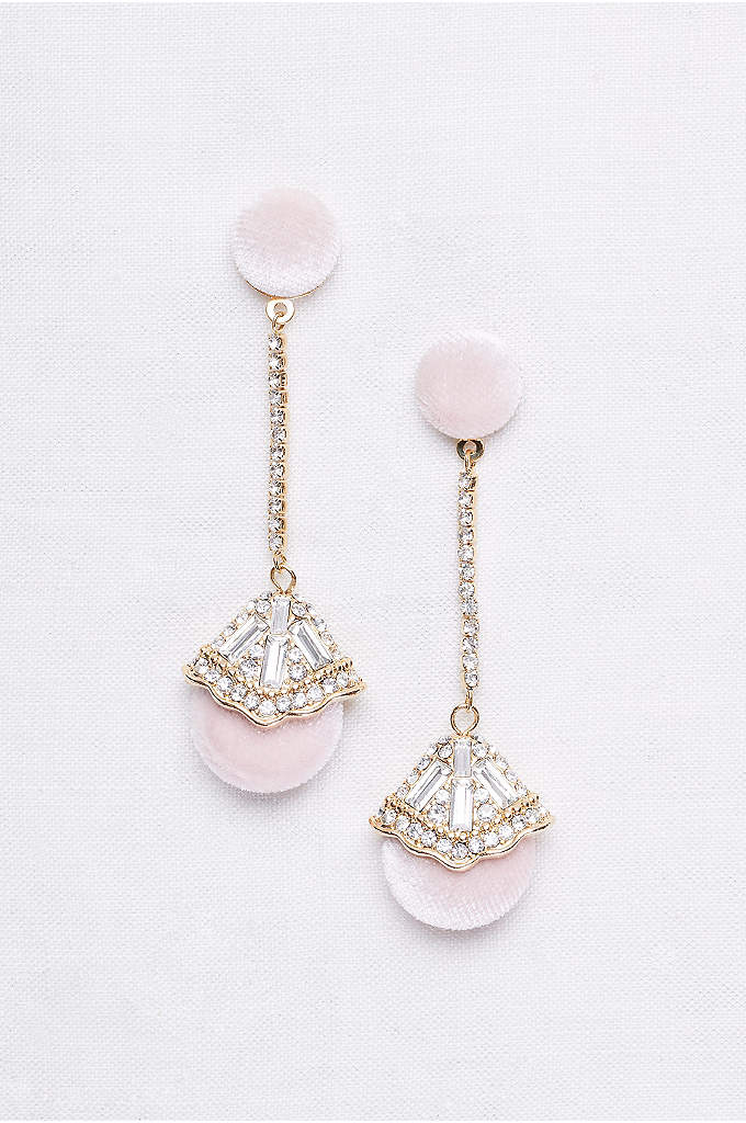 Velvet Deco Drop Earrings - The definition of glam, these sweeping earrings feature