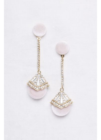 Velvet Deco Drop Earrings - Wedding Accessories