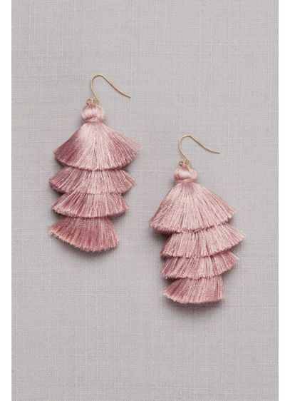Tiered Tassel Earrings - Wedding Accessories
