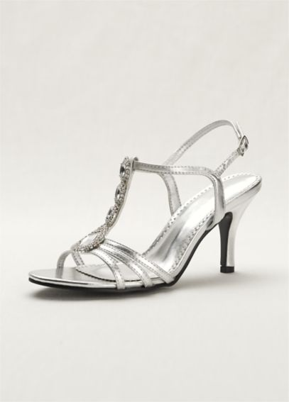 T-Strap High Heel Sandal with Jewel Detail MEG