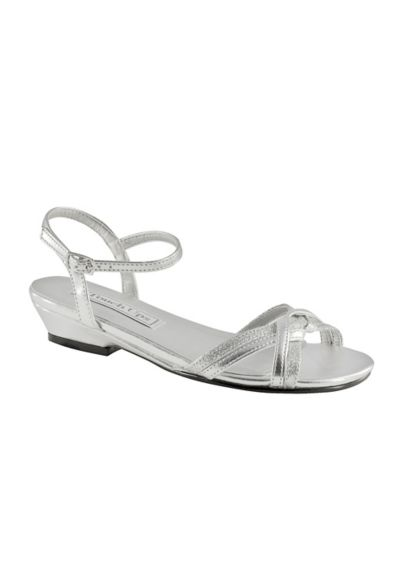 Touch Ups Grey (Melanie Jr. Girls Sandal by Touch Ups)