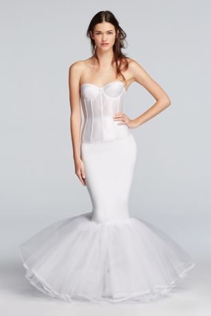 Extreme mermaid silhouette slip davids bridal for Mermaid slip for wedding dress