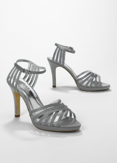Satin High Heel Lattice Weave Strappy Sandal MIA