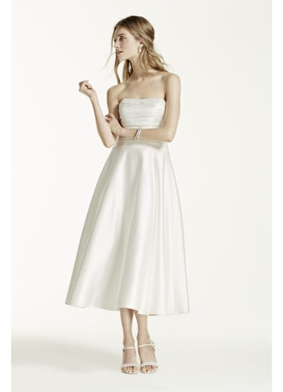 Short A-Line Simple Wedding Dress - David's Bridal Collection