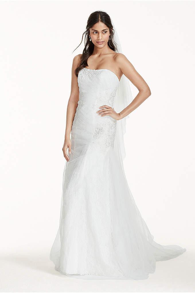 Jewel tank tulle v neck beaded wedding dress davids bridal for David s bridal tulle wedding dress