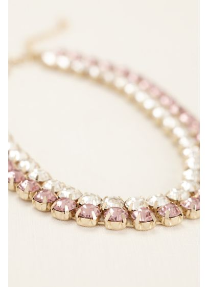 Two Tone Crystal Necklace - Wedding Accessories