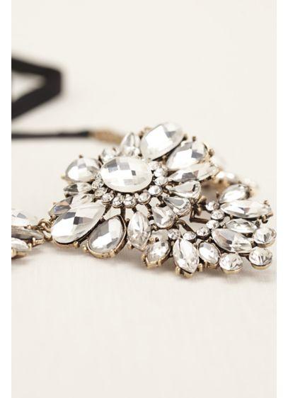 Three Station Crystal Statement Necklace - Wedding Accessories