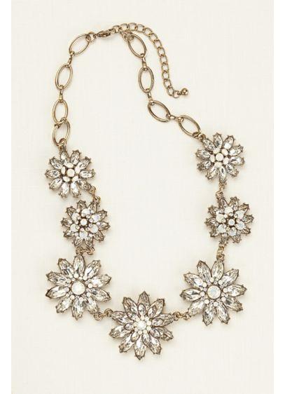 Layered Floral Motif Statement Necklace - Wedding Accessories