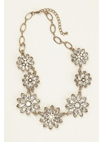 Layered Floral Motif Statement Necklace - Wedding Accessories