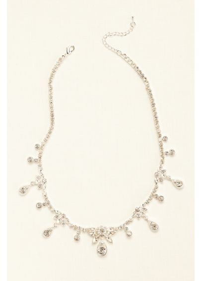 Crystal Dangle Drop Necklace MNJ23624
