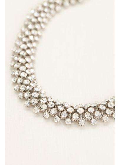 Interlocking Crystal Statement Necklace - Wedding Accessories
