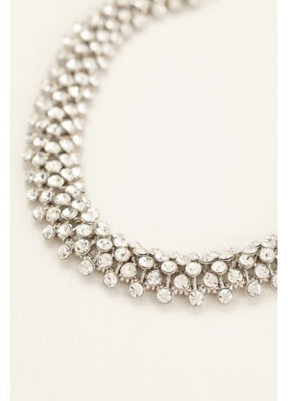 Interlocking Crystal Statement Necklace MNJ2905