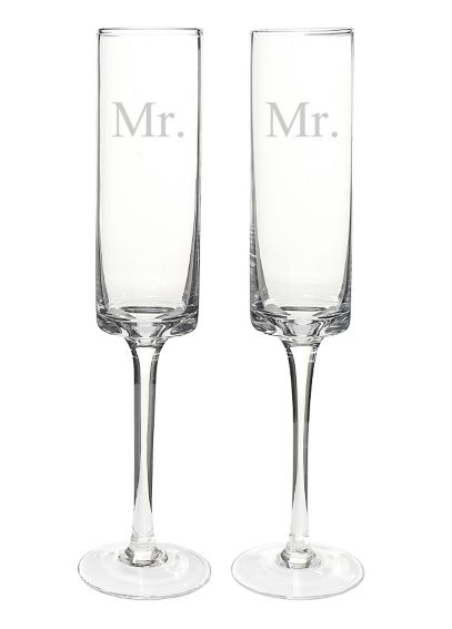 Mr. and Mr. Contemporary Champagne Flutes MR3668