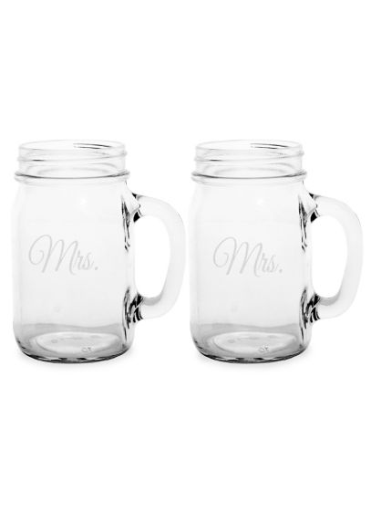 Mrs. and Mrs. Old Fashioned Drinking Jar Set - Wedding Gifts & Decorations