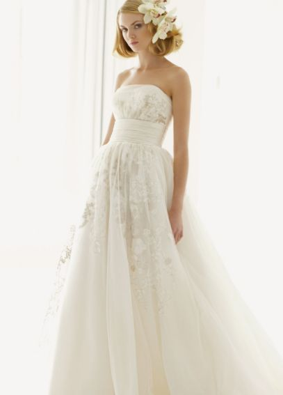 Melissa Sweet Lace Wedding Dress with Satin Waist  MS251004