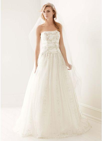 Long Ballgown Romantic Wedding Dress -