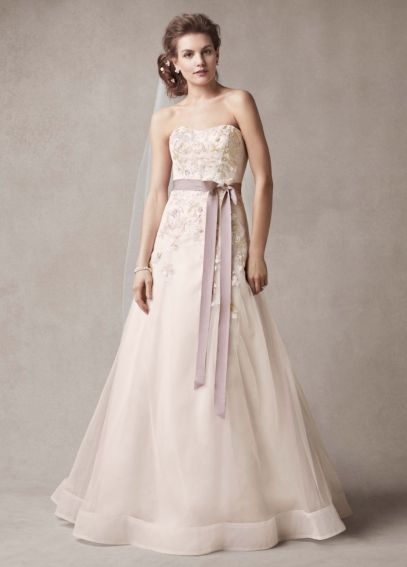 Melissa Sweet Wedding Dress with Two Toned Skirt  MS251074
