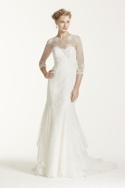 Melissa Sweet Wedding Dress with Illusion Sleeves | David's Bridal