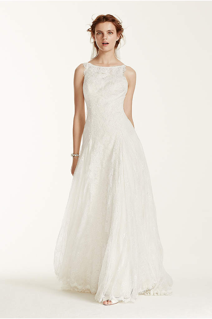Melissa Sweet Lace Wedding Dress with High Neck - This stunning lace trumpet gown is sure to
