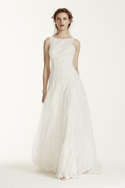 melissa sweet lace wedding dress with high neck davids