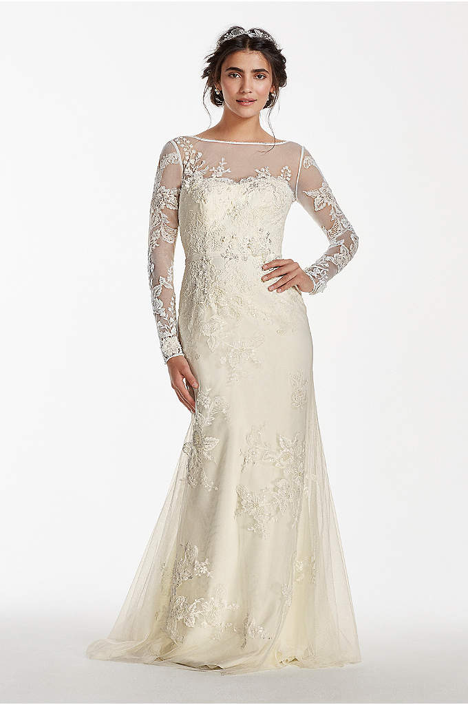 Melissa Sweet Long Sleeved Lace Wedding Dress - A dream wedding gown for that special fairytale