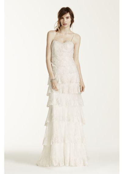 Melissa Sweet Beaded Tiered Lace Wedding Dress Davids Bridal
